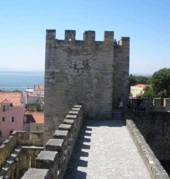 Tower in St. Geroge's Castle in Lisbon.