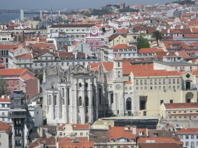 One Day in Lisbon: View of Lisbon from St. George's Castle.