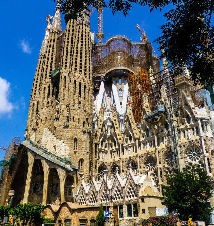 Barcelona's still in progress Sagrada Familia