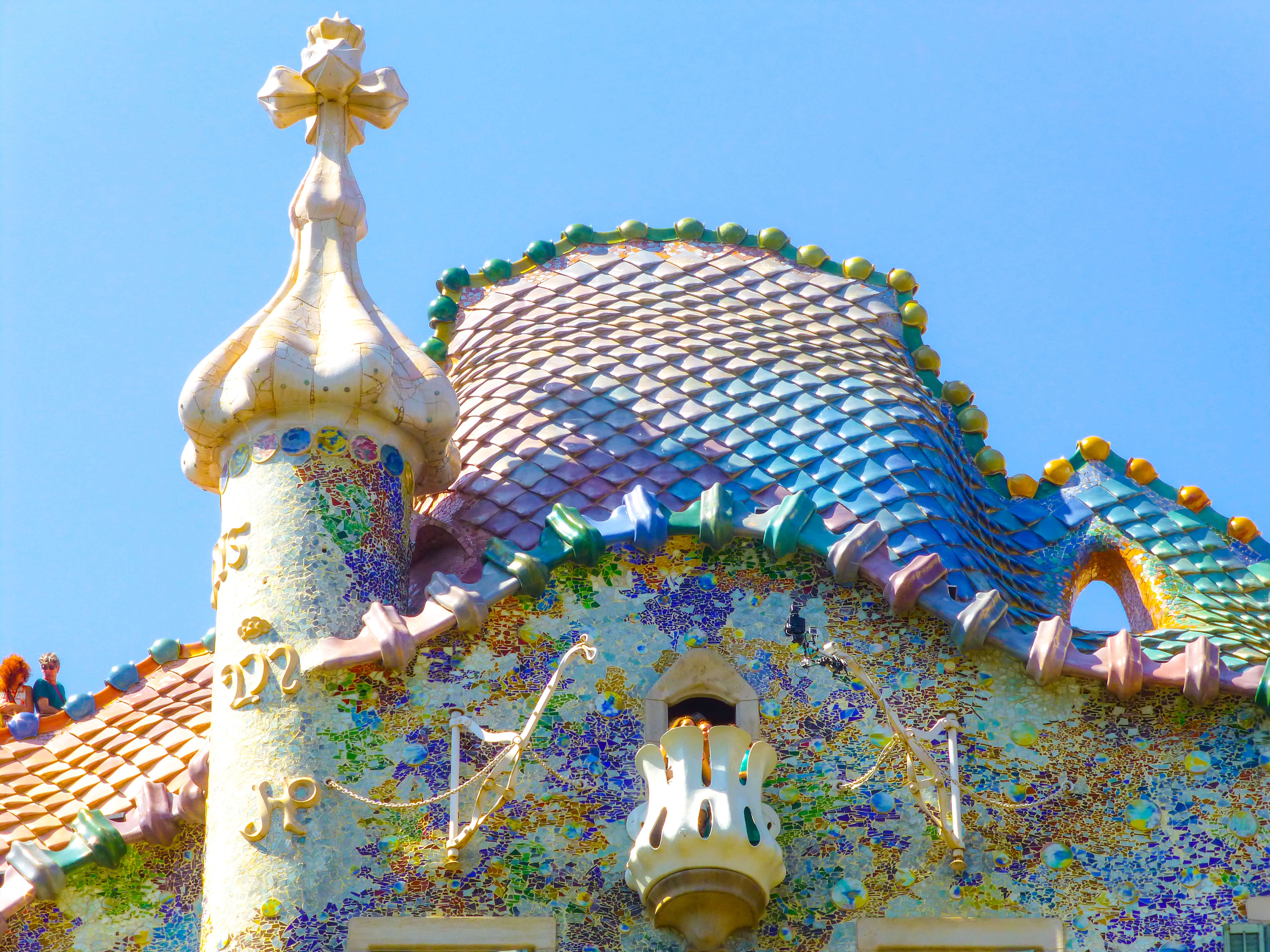 colorful casa batllo is a typical sight on a gaudi walking tour