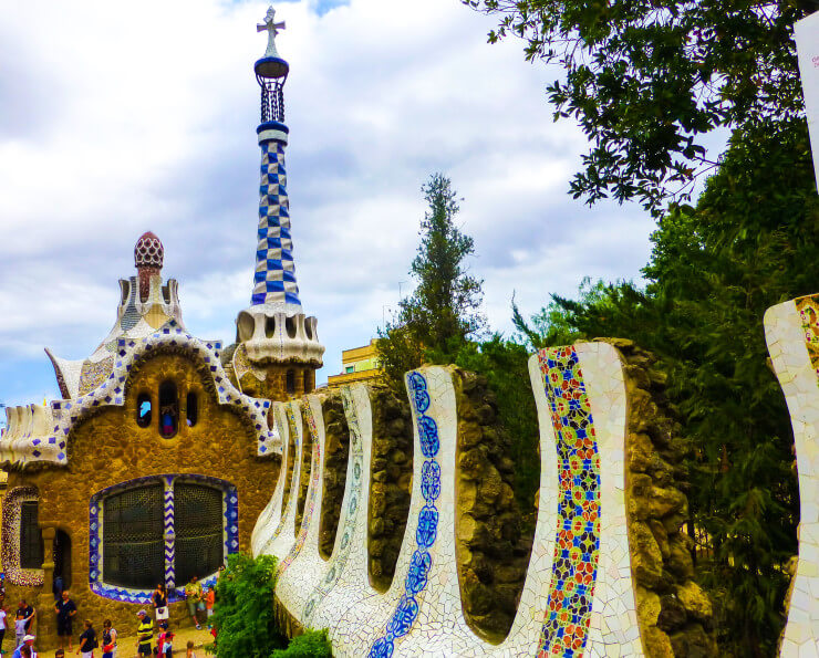 Colorful Park Guell -- a must stop with one day in Barcelona