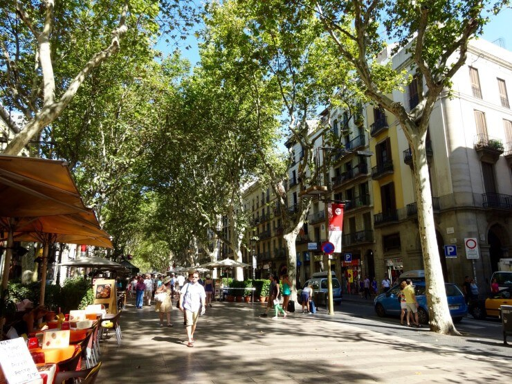 Las Ramblas -- Barcelona's most famous street