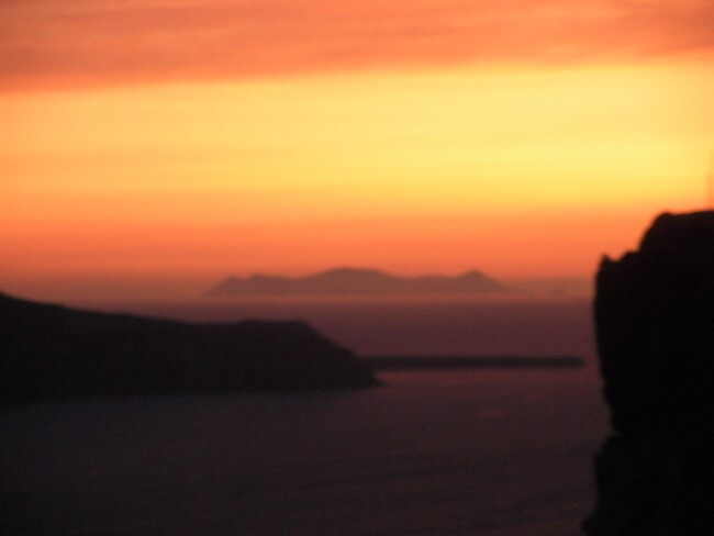 One Day in Santorini - The Famous Santorini Sunset