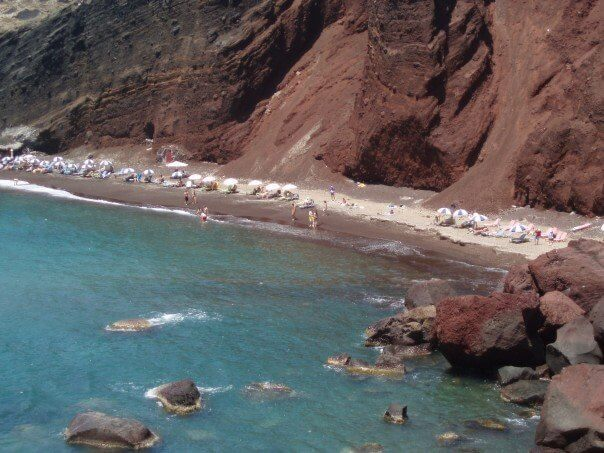 One Day in Santorini - Red Beach