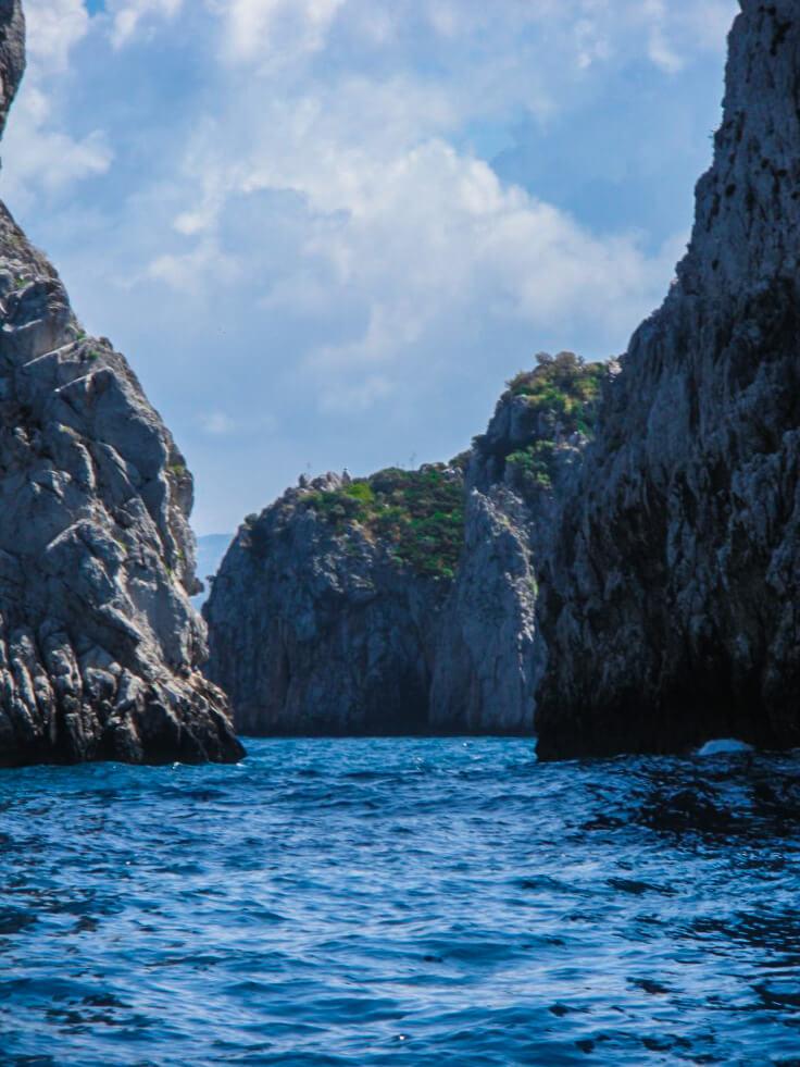 Boat ride in Capri