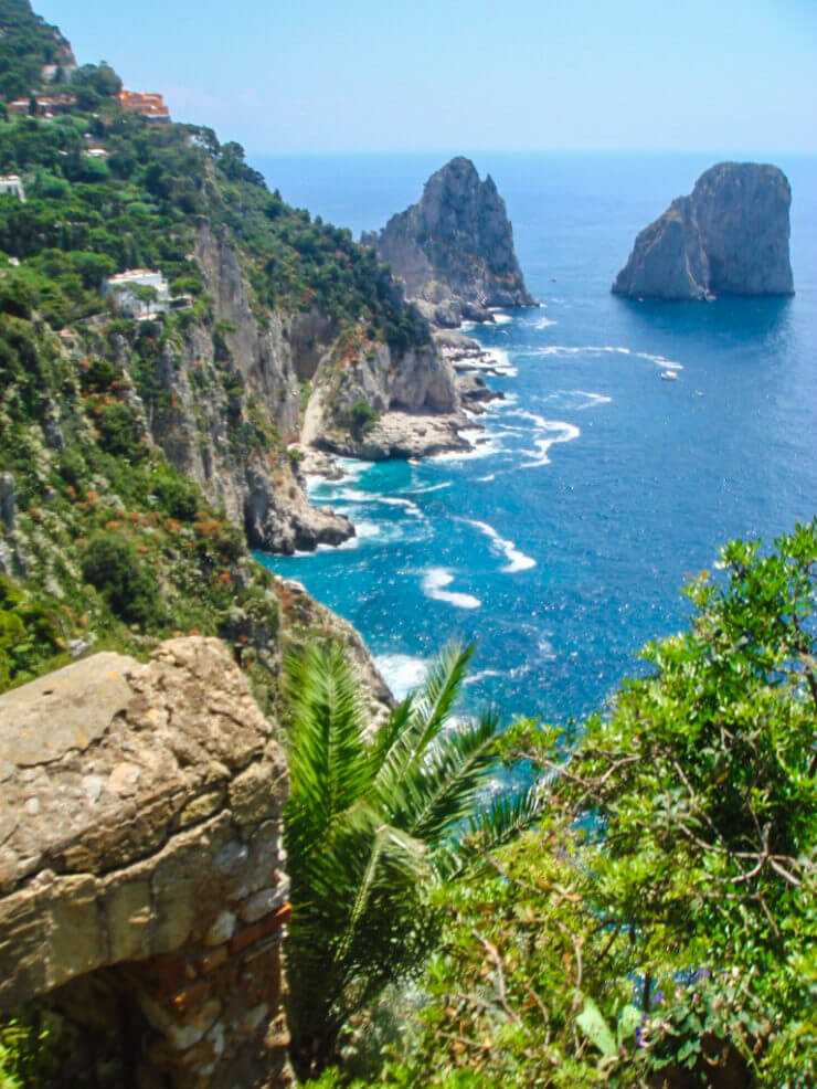 Gorgeous view from Giardini di Augustus on the island of Capri.