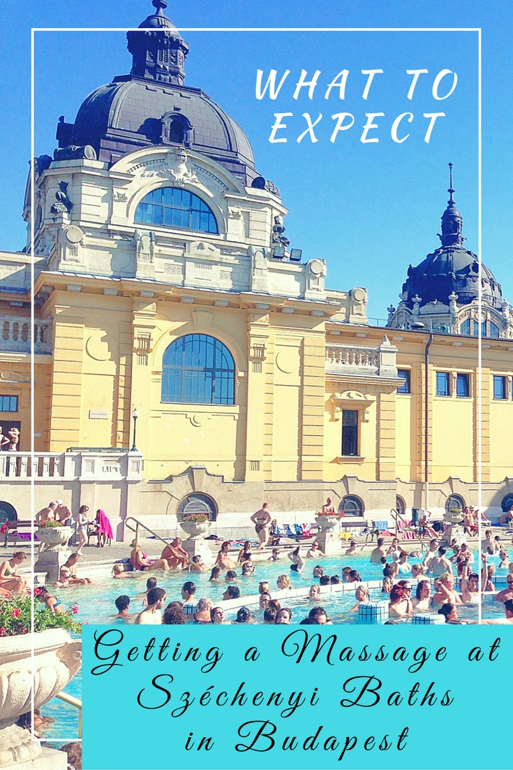 Getting a Massage at Széchenyi Baths in Budapest