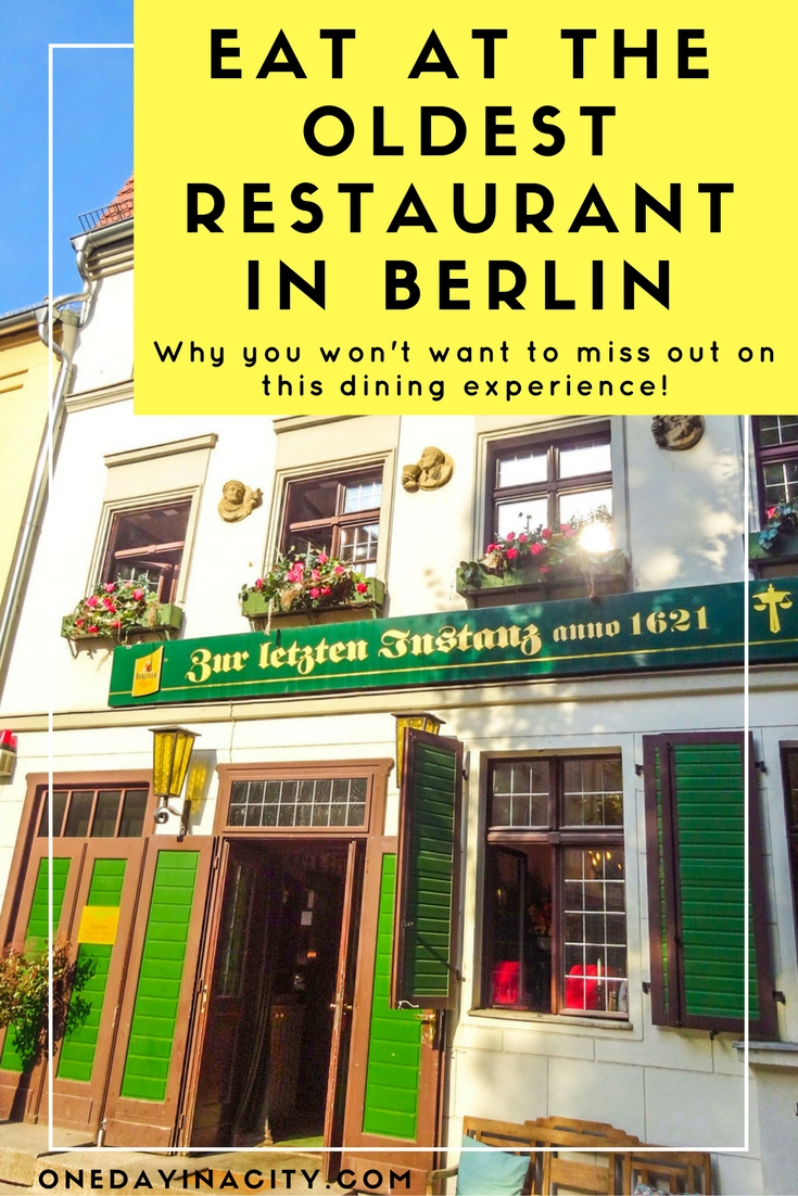 You'll find delicious traditional German cuisine and a charming atmosphere at Zur Letzten Instanz, the oldest restaurant in Berlin. You also can't miss seeing the marvelous old staircase inside (picture in blog post)!