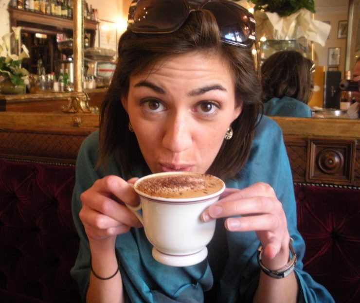 Mostly at home, I like to drink coffee. (Ok, this picture was taken in Italy, but that is because who takes pictures of themselves drinking coffee at home??)