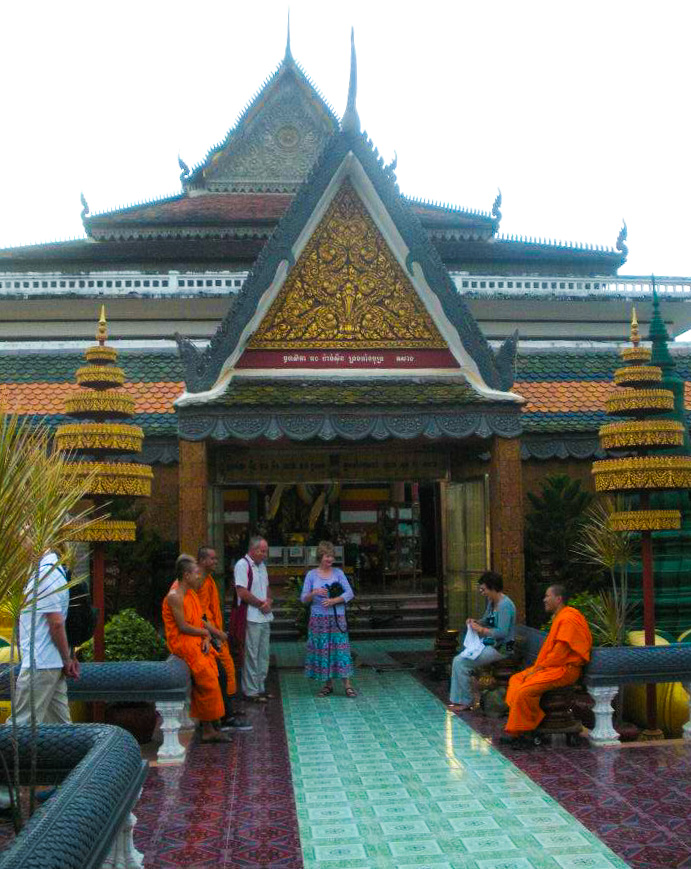Wat Preah Prom Rath, a temple in the city center of Siem Reap near Old Market.