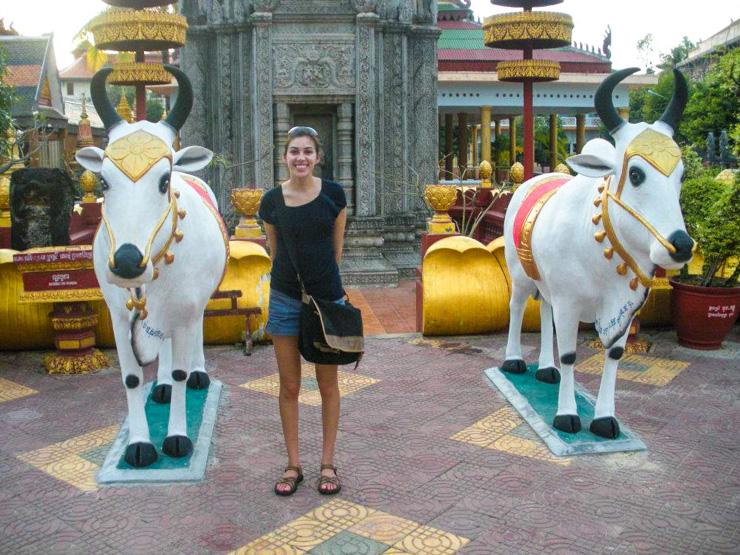 In Wat Preah Prom Rath in Siem Reap.