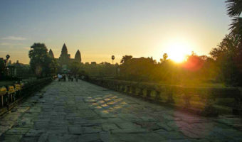 The path leading to the main temple of Angkor Wat.