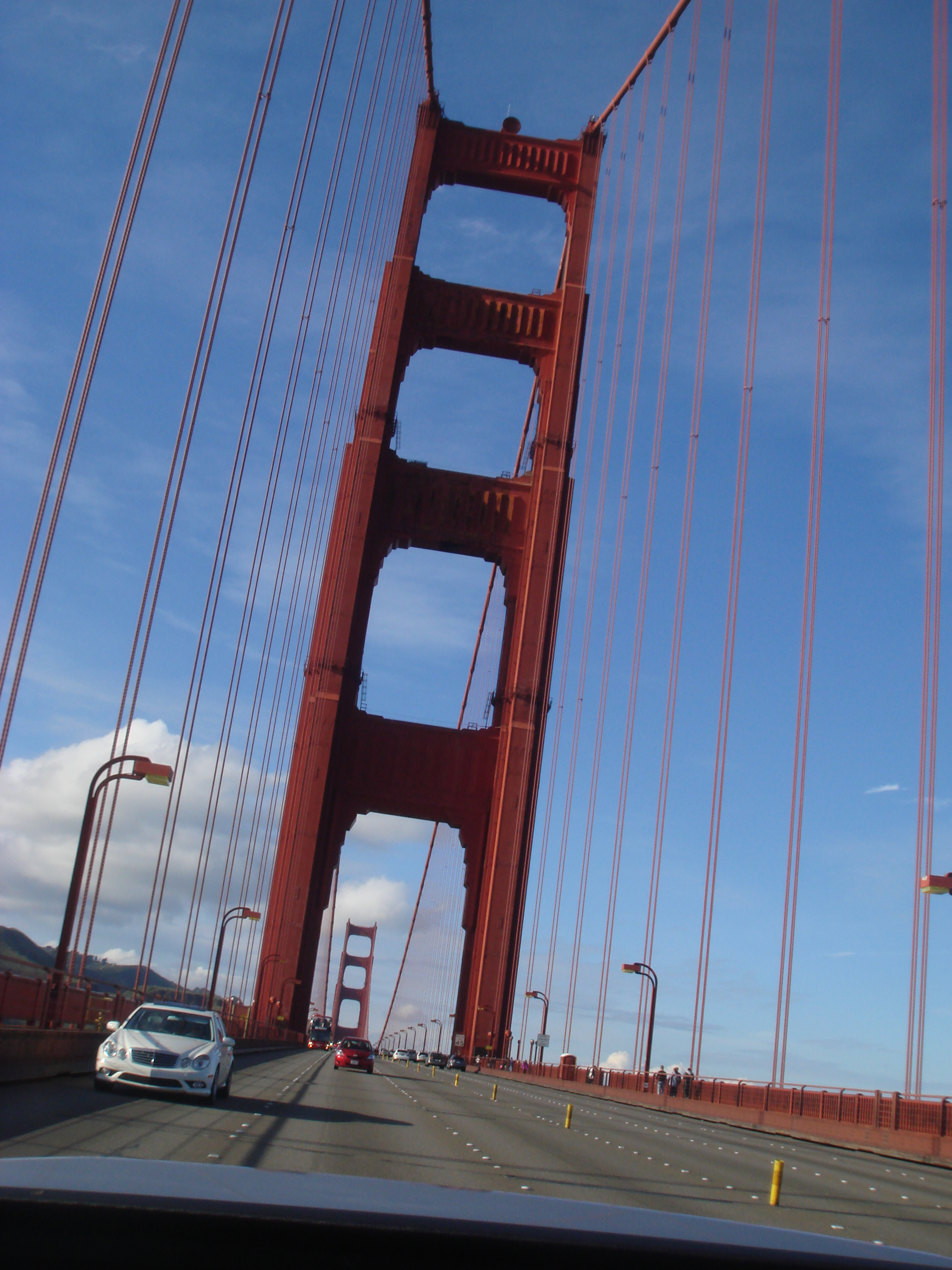 Golden Gate Bridge - Pic taken from looking out the BACK of the convertible.