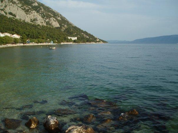 View from the beach in Gradac, Croatia