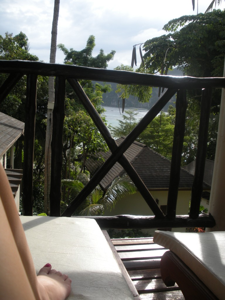 Relaxing view from our secluded, romantic balcony.