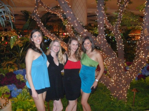 Vegas Girls Trip: Our too-long-for-vegas hemlines. Apparently shorts don't count.