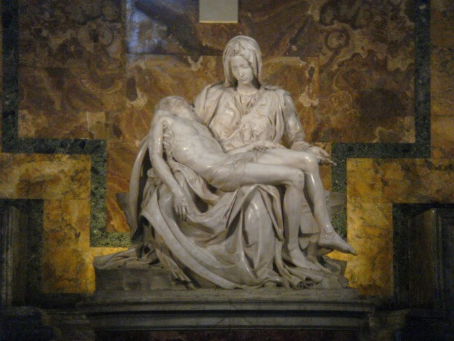 One Day in Rome should include a stop at St. Peter's Basilica to see Michelangelo's Pieta.