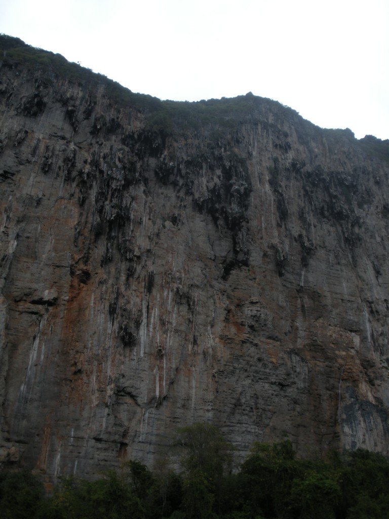 One of the rock walls on Ko Phi Phi Leh.