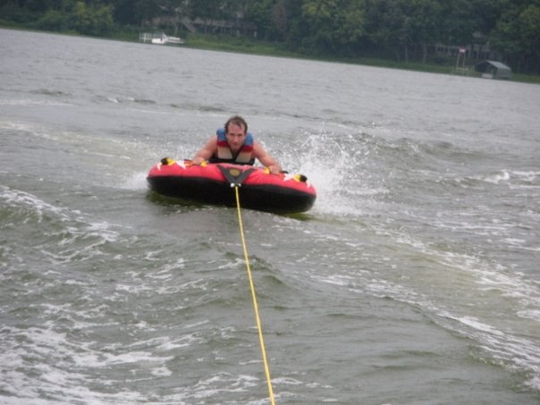 Fun time tubing on Lake Minnetonka.