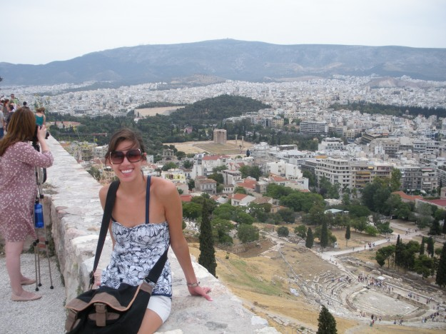 Athens may be a huge, sprawling, crowded metropolis, but it sure is magnificent. A view from atop the Acropolis - Zeus and the old theater in the background. .