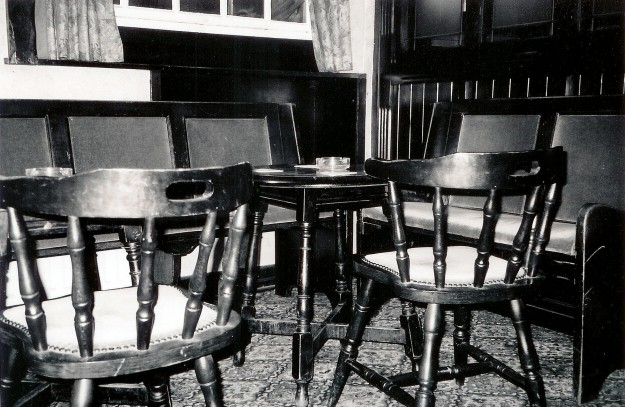 Empty tables and chairs in Dirty Bottles...or are they? Cue ghost, cue scary music...