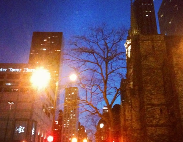 The streets of Chicago all lit up at night are a lovely and magnificent sight to see.