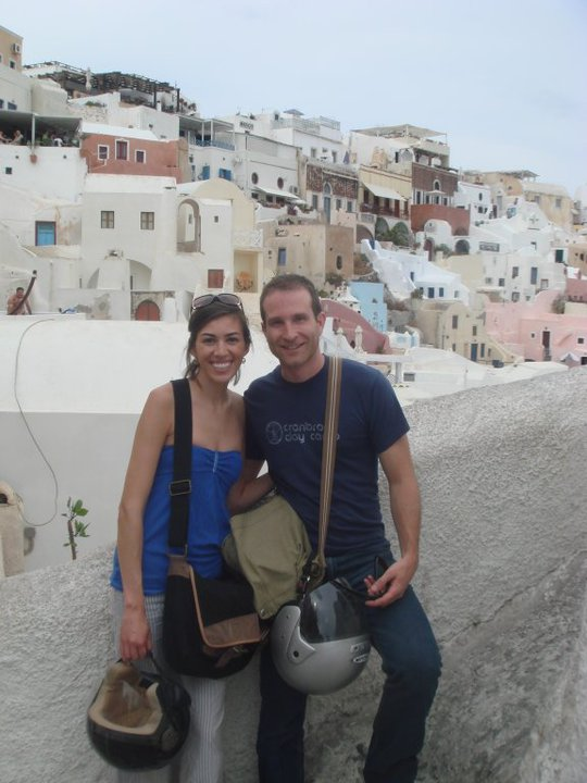 Walking around Oia.
