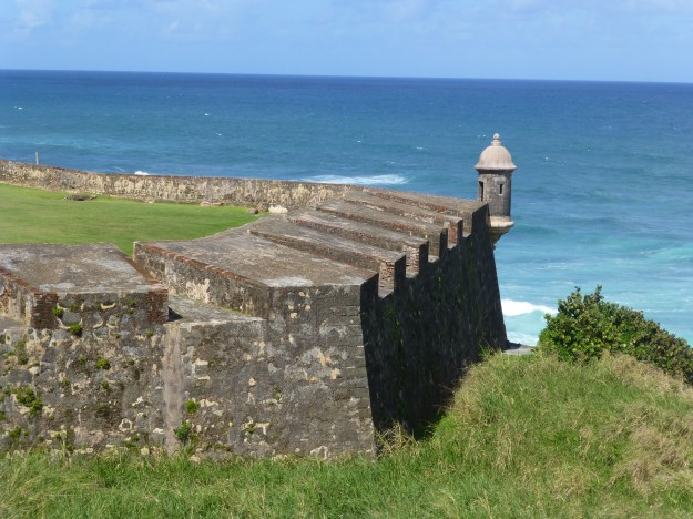 One of the powerful walls of Castillo San Cristobal.