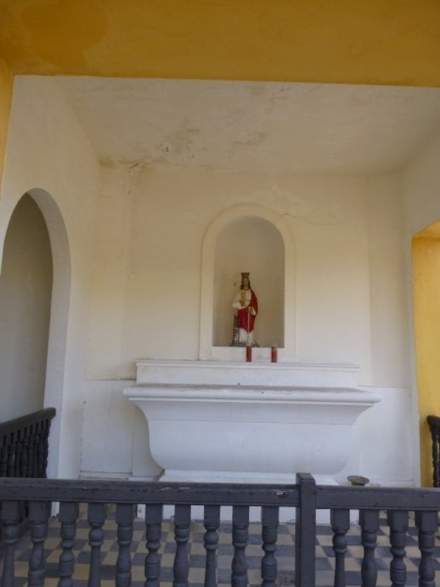 A small chapel in the middle of the Castillo San Cristobal fort.