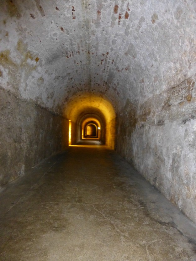 A long tunnel soldiers used to use to quickly relocate their position.