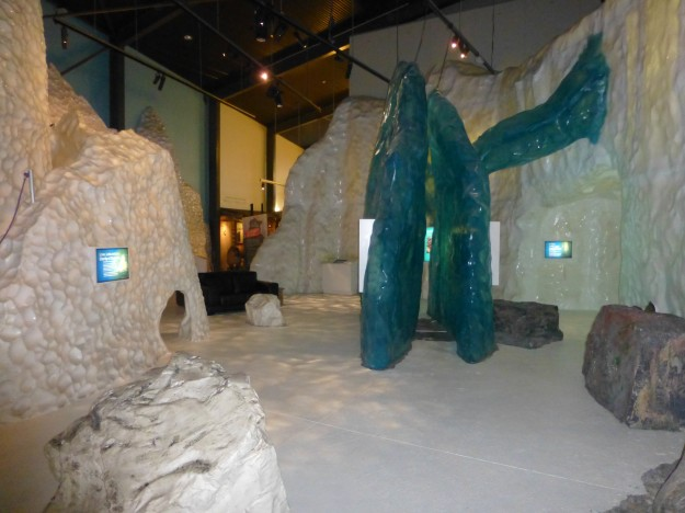 The informative and interactive glacier exhibit at the West Coast Wildlife Centre in Franz Josef, New Zealand.