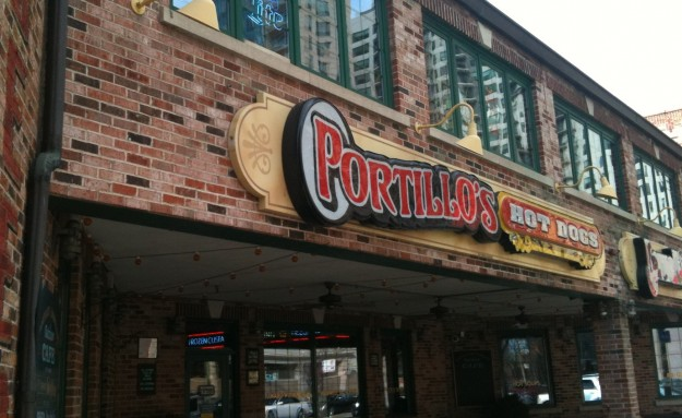 Portillo's: A great place for Chicago style hot dogs.