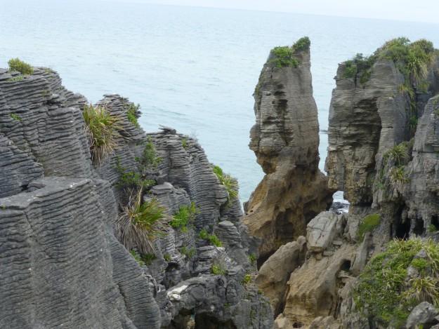 More stacks of Pancake Rocks in New Zealand.