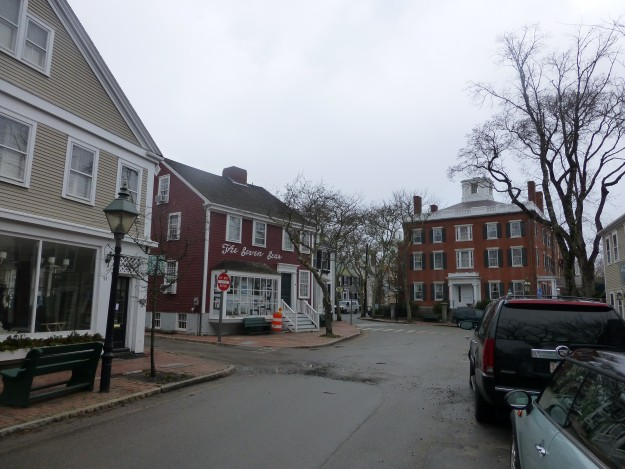 Nantucket's empty downtown during low season.