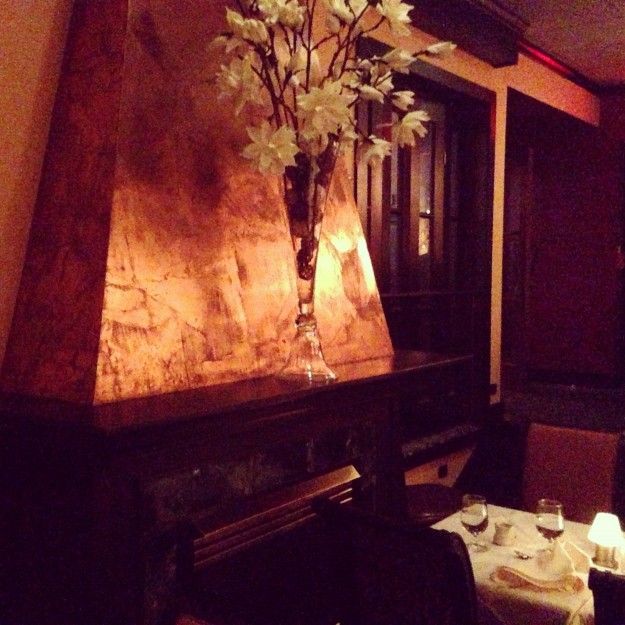 Siena Restaurant, Providence: The Tuscan chateau ambiance of Siena's back room.