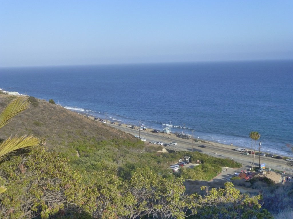 The Malibu coastline in California