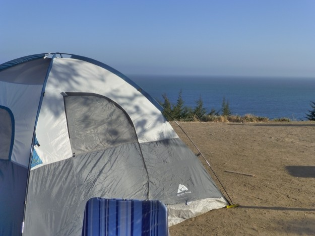 Camping in Malibu may not be your typical camping experience, but who cares with these views?