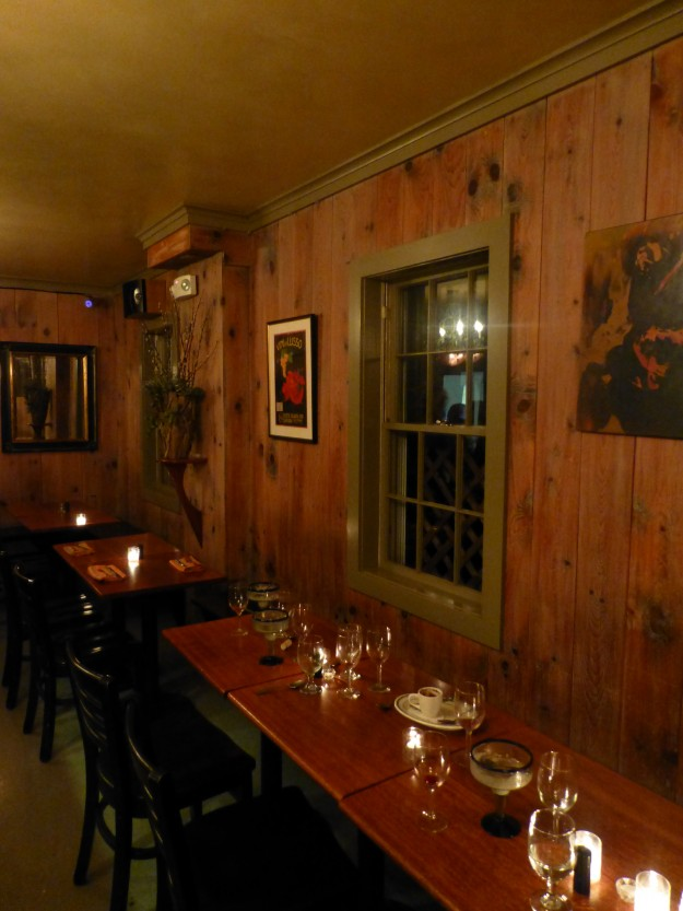 The rustic interior of Black-Eyed Susan's in Nantucket.