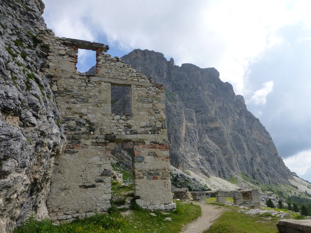 Hospital ruins in the Dolomites.