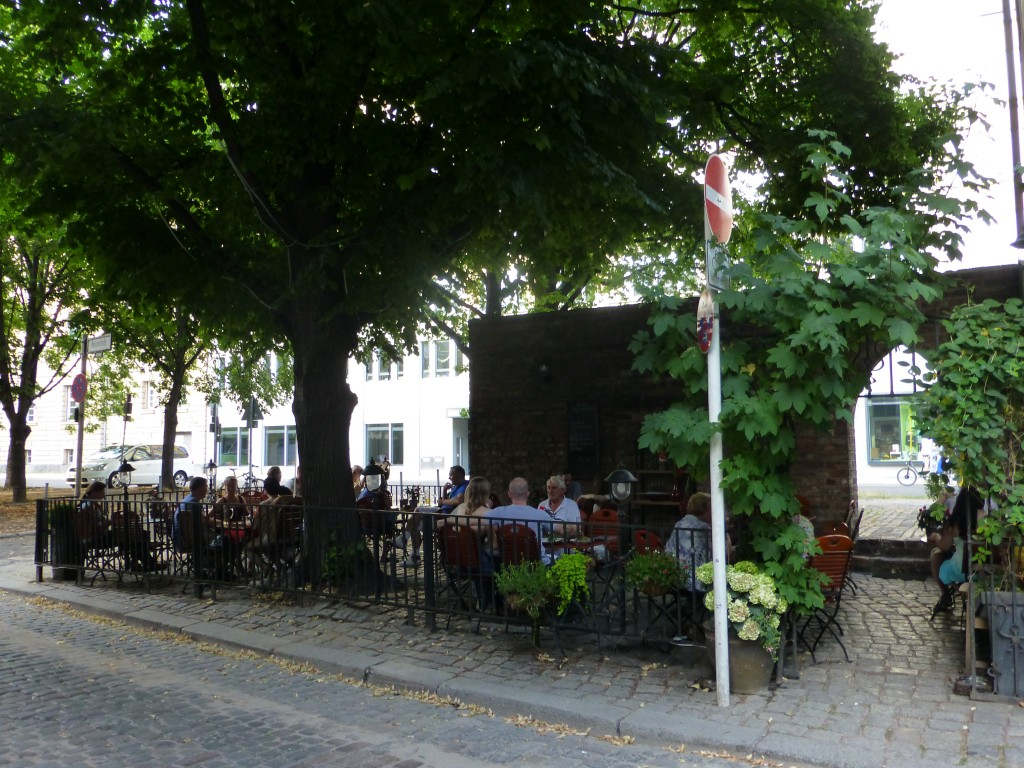 The patio at Zur Letzten Instanz, a popular place on a warm summer night.