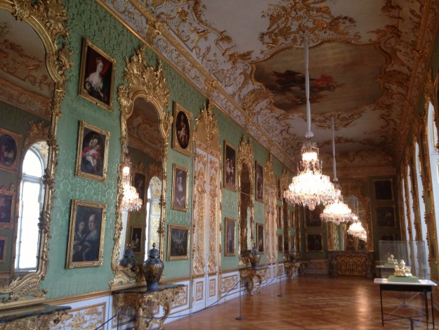 Munich Residenz: The bright, pretty Green Gallery.
