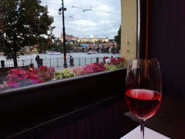 Gorgeous view from Bellevue Restaurant in Prague.