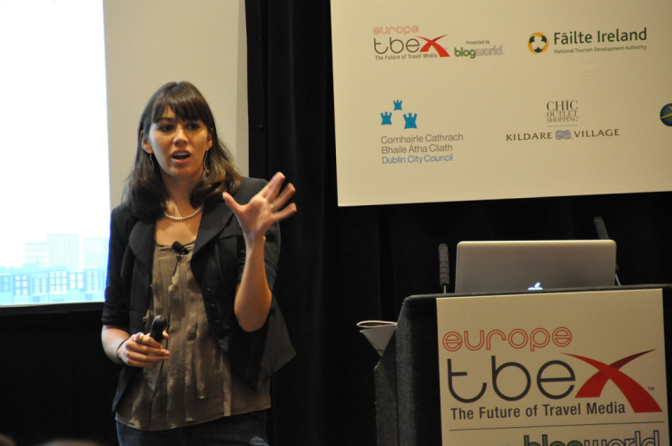 Speaking about travel marketing at the TBEX (Travel Blog Exchange) Conference in Dublin, Ireland.