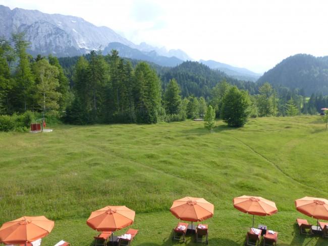 Schloss Elmau has gorgeous countryside views.