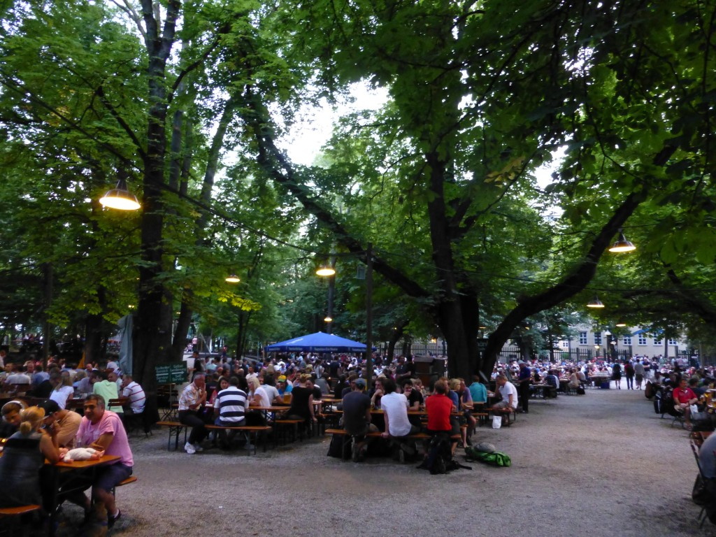 The massive Augustiner Keller Beer Garden in Munich.