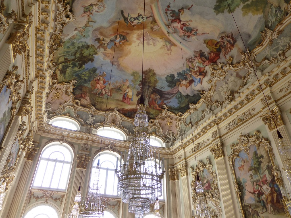 The prettily opulent Festival Room in Schloss Nymphenburg.