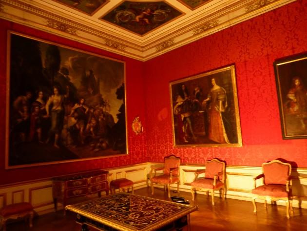 An opulent room in Munich's Schloss Nymphenburg.