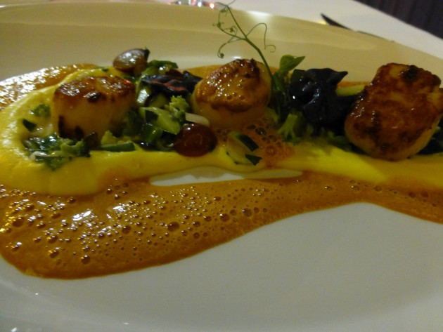 Delectable, awesome scallops at Bellevue Restaurant.