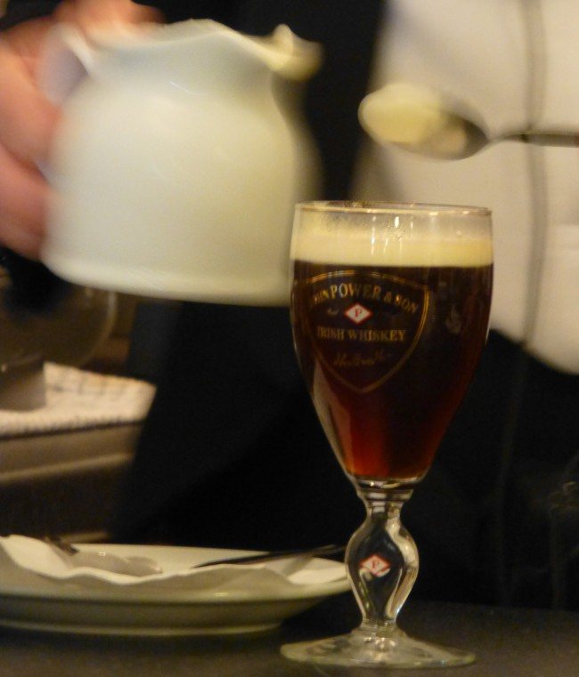 Learn How to Make Irish Coffee in Foynes: That is one good looking glass of Irish Coffee.