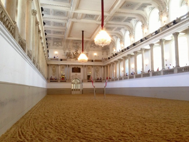The interior of the Spanish Riding School.